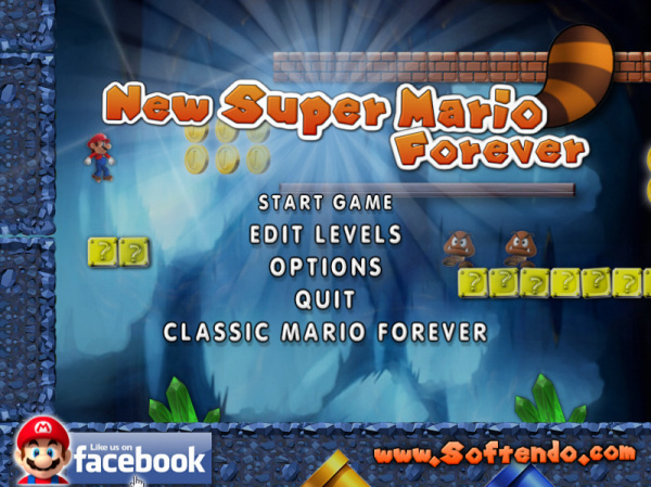 New Mario Forever 2012 Title Screen