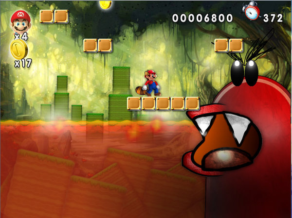 Ghost House in Super Mario