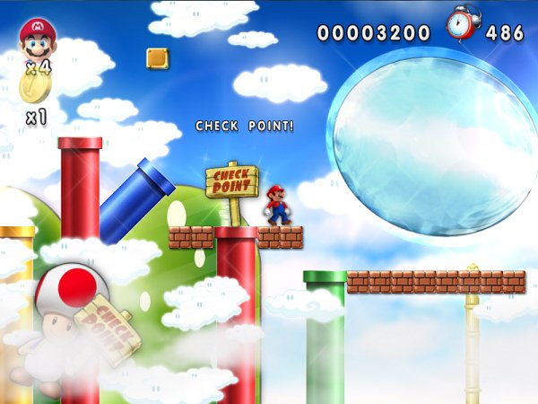 New Mario Forever Bubble World