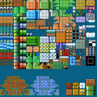 Mario Tiles And Blocks